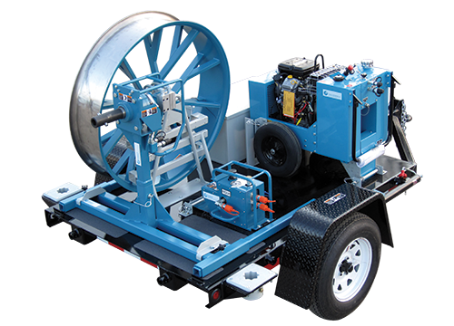 Open Style Fiber Optic Cable Puller Trailer