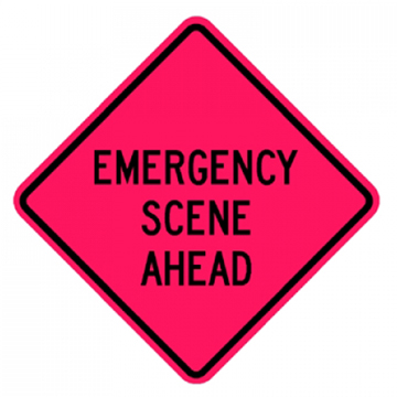 Roll-Up Sign - Emergency Scene Ahead