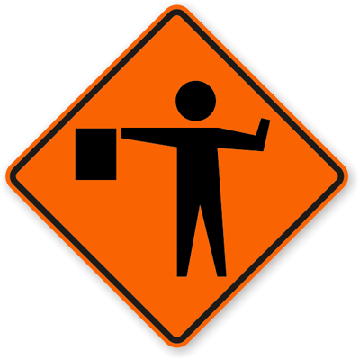 Roll-Up Sign - Flagger Ahead Image