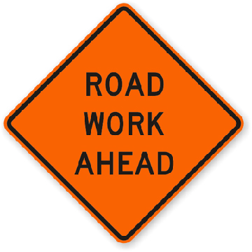 Roll-Up Sign - Road Work Ahead
