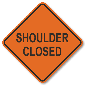 Roll-Up Sign - Shoulder Closed
