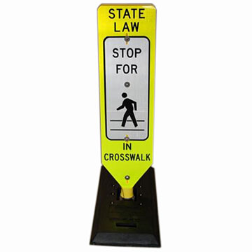 Pedestrian Crossing Sign & Base