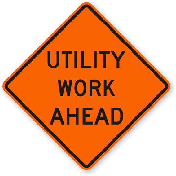 Roll-Up Sign - Utility Work Ahead