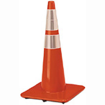 "Traffic Cone 4"" & 6"" Reflective Collars 28"" 5lb"